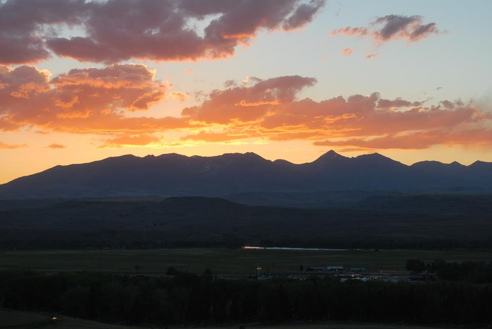 Montana Mountain Sunset